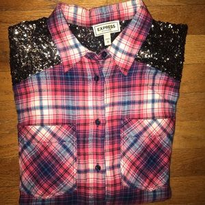 Sequin flannel